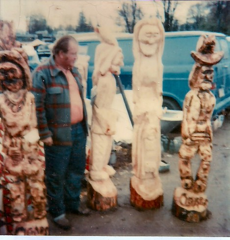 Tom Breen and carvings